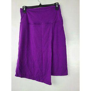 Athleta Purple Seaside Fold Over Wrap Skirt Size S